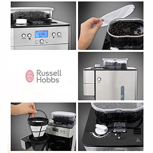 Russell Hobbs Grind And Brew Coffee Maker Instructions : Russell Hobbs RH-239403 Grind&Brew Coffee Maker Brewer machine with built-in milling Grinder ...