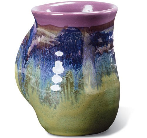 Clay In Motion Handwarmer Mug   Mossy Creek   Left Handed By Clay In Motion