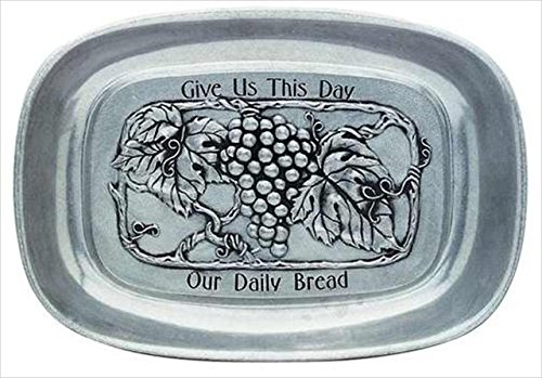 Carson Home Accents 33783 Tray Our Daily Bread Vineyard (Home Bread Tray)