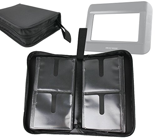 DURAGADGET Premium CD DVD Storage Wallet Binder for Storing 80 Discs for Your Nextbase Click & Go Click 7 Lite Duo Twin Screen Portable DVD ()