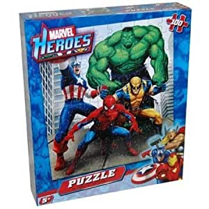 Amazon.com: Marvel Heroes 100 Piece Puzzle - Spiderman