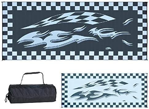 Ming s Mark HC1 8-Feet x 20-Feet Black Checker Flag Mat