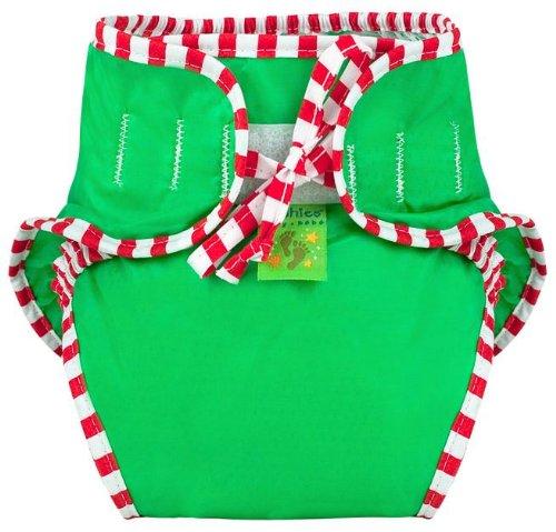 Kushies Reusable Swim Diaper, Large, Green