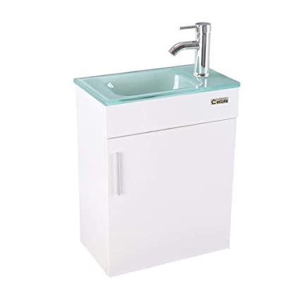 Amazoncom U Eway Wall Mounted Bathroom Vanity And Sink Combo 184