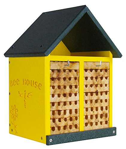 Double-Wide Large Poly Lumber and Pine Mason Bee House - Handmade in the USA
