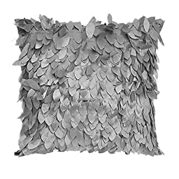Fallen Leaves Feather Couch Cushion Cover Home Decor Sofa Throw Pillow Case Gray