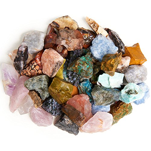 Digging Dolls: 3 lbs of a 28 Stone Type (HUGE VARIETY) Madagascar Rough Mix - Large Size - 1