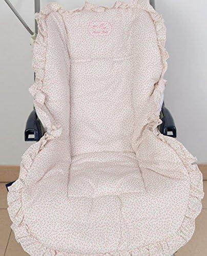 Colchoneta para silla de paseo universal flor rosa. Funda silla de coche. Mundi Bebé.: Amazon.es: Bebé