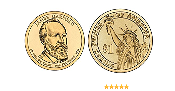2011 JAMES GARFIELD PRESIDENT DOLLAR P or D MINT 1-COIN BRILLIANT UNCIRCULATED