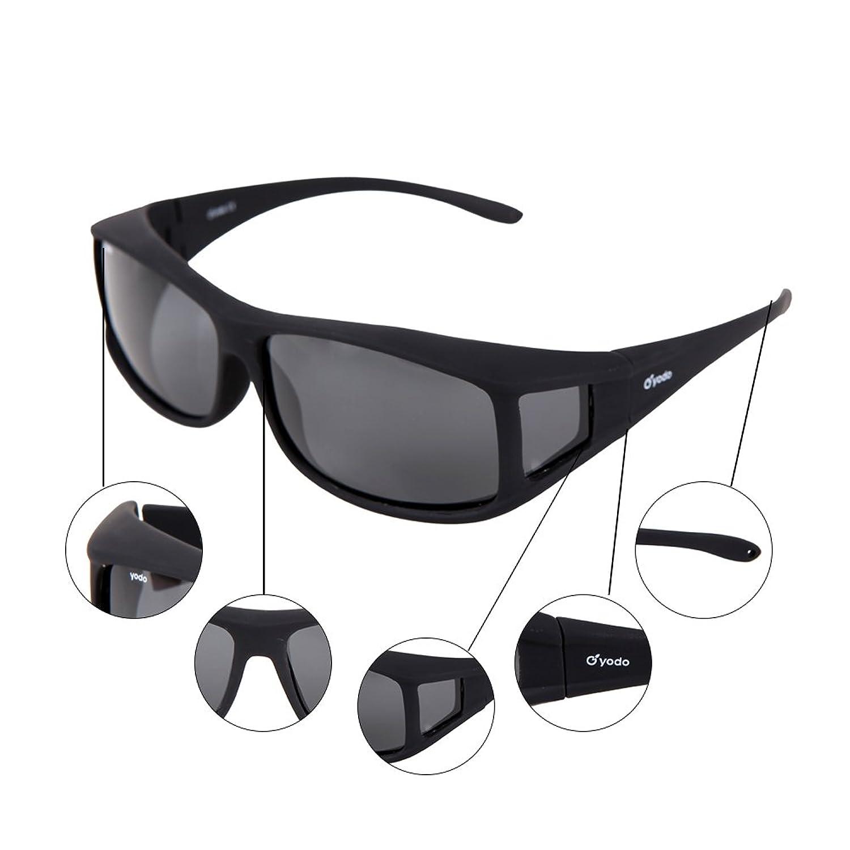 Yodo Über-Brille Sonnenbrille mit polarisierten Gläsern für Männer und Frauen,Rauch
