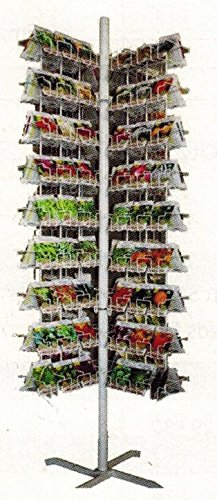 IRISH EYES GARDEN SEEDS - Empty Seed Rack Display (4-Wing) - Perfect for Store or Greenhouse by Irish Eyes Garden Seeds