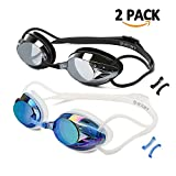 vetoky Swim Goggles, Anti Fog Swimming Goggles No Leaking Wide View Triathlon, Swim Goggle with UV Protection Lense for Adult Men Women Youth Kids Child, Multiple Choice