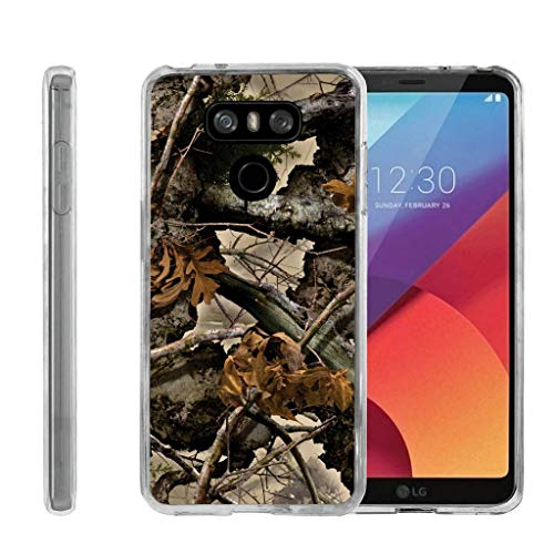 (TurtleArmor | Compatible for LG G6 Case | LG G6+ Case | LG G6 Plus Case [Flexible Armor] Flexible TPU Case Slim Fitted Soft Armor Cover - Tree Leaves Camouflage)