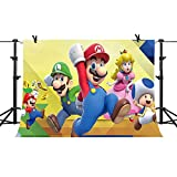 PHMOJEN Super Mario Bros Photography Background 7x5ft Cartoon Kids Children Birthday Party Backdrop Baby Shower Decoration Studio Props PPH028
