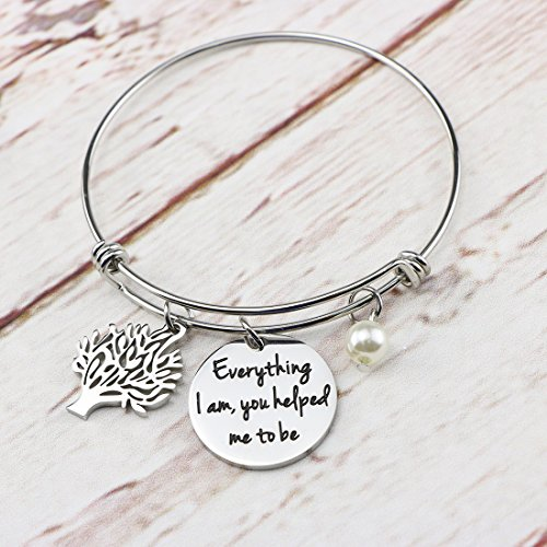 Awegift Expandable Bracelet Tree Life Wedding Party Jewelry Gifts Everything I am, you helped me to be by Awegift (Image #3)