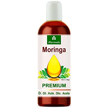 Aceite de Moringa Premium de MoriVeda, prensado en frío a partir de semillas de alta