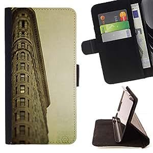 Momo Phone Case / Flip Funda de Cuero Case Cover - Arquitectura Retro Mar Ligthouse - Samsung Galaxy Core Prime