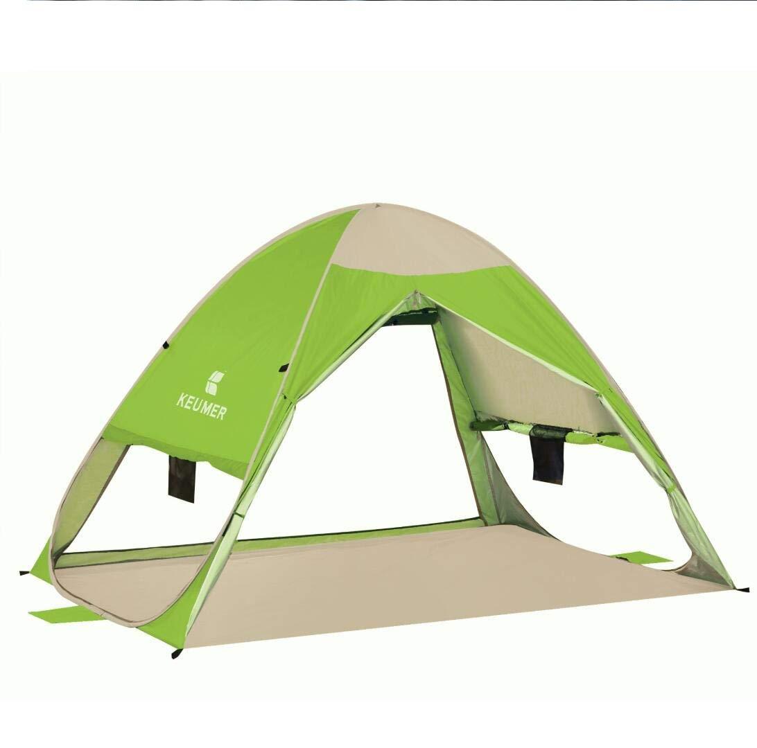 3M Cw Pop Up Strandzelt 1–4 Personen, UPF 50 + UV-Schutz, Sonnenschutz, automatisches Kinder-Zelt, tragbares Zelt, Familie, Cabana, Strandmuschel für Angeln, Camping, Garten Outdoor