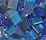 "Hakatai Glass Mosaic Tile 5/8"" – ½ Pound Blue Blend FBL05"