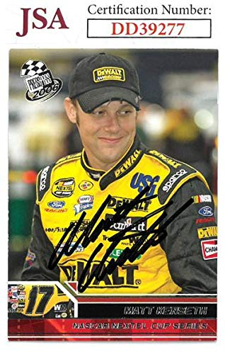(Matt Kenseth signed NASCAR 2006 Press Pass Racing Trading Card #13- Hologram #DD39277 - JSA Certified)
