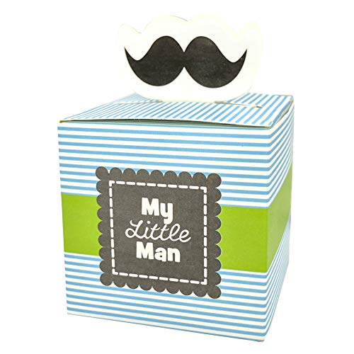 24pcs Cute Mustache Gift Boxes Baby Boy Birthday Decoration Baby Shower Candy Boxes Baptism Christening Party Favors 216inch*216inch*216inch