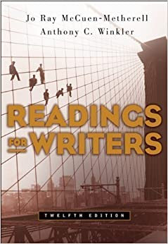 Book Readings for Writers by McCuen-Metherell, Jo Ray Published by Cengage Learning 12th (twelfth) edition (2006)