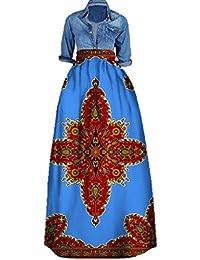 Women's African Print Skirts Long Maxi Skirt Dashiki Ball...