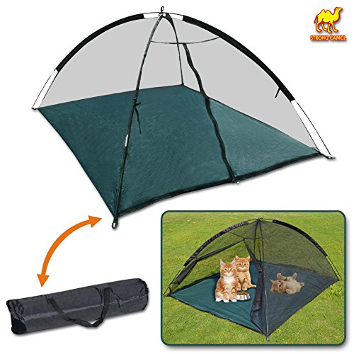 Strong Camel Large Outdoor Indoor Happy Mosquito Habitat for Cats Dog Pet Play House Playpen Feline Funhouse portable exercise Tent  sc 1 st  Amazon.com & Cat Tents for Outside: Amazon.com