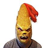 Angry Corn Latex Head Mask Scary Halloween Costume Mask Cosplay Full Face Mask for Cosplay Carnival Festival by Yunhigh