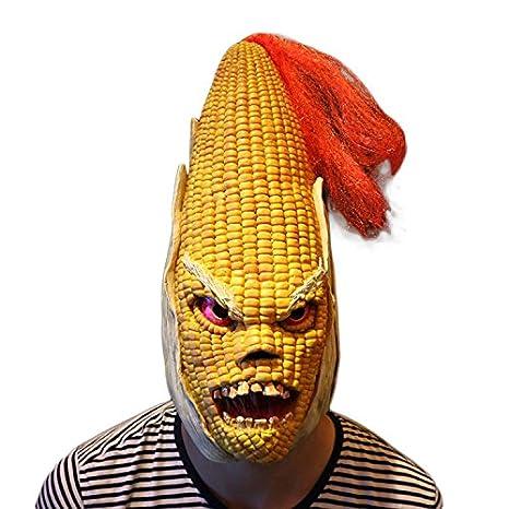 f6737cb63cb5b Amazon.com: Angry Corn Latex Head Mask Scary Halloween Costume Mask ...