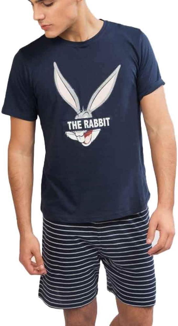 Pijama de Verano Hombre Bugs Bunny (XL): Amazon.es: Ropa