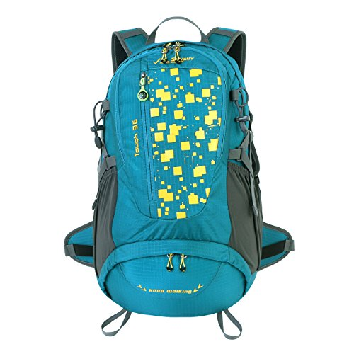 Summit Glory Keep Walking 36L External Frame Hiking Backpacking Camping Travel Climbing Backpack Atrovirens