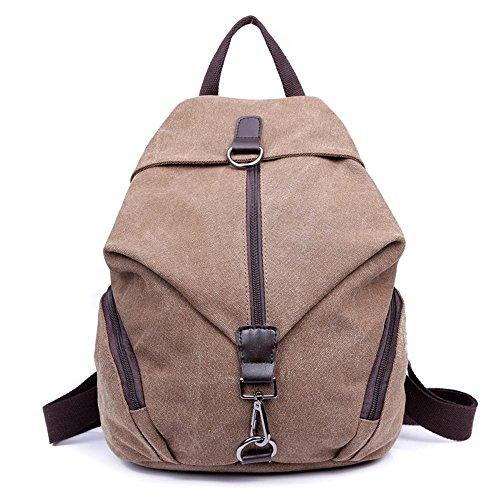 Aoligei Petite toile douce épaule double rétro sac à dos high School sac à dos sac à dos de Dame version coréenne C