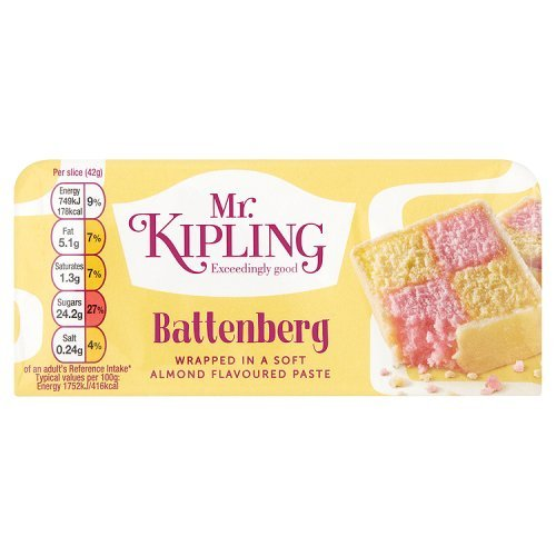 Price comparison product image Mr Kipling Whole Battenburg Cake