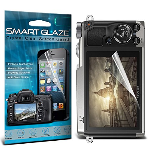 Silicon Skin Olympus (ONX3® Crystal Clear Premium LCD Screen Protectors Packs With Polishing Cloth & Application Card For 3.0