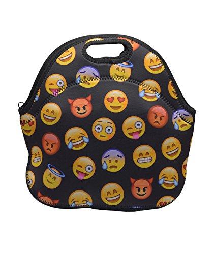 MOT Global Emoji Insulated Neoprene Lunch Bag - Lunch Tote f