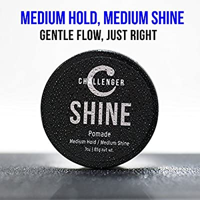 Challenger Shine - Medium Shine Pomade - Medium Hold (3OZ)