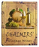 CHALMERS' Family Name Vintage Wines Stretched Canvas Print