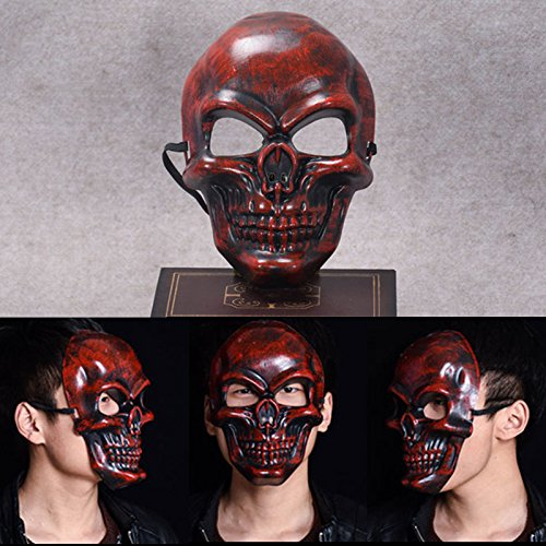 Autumn Water Halloween Masks Scary Skull Fullface Mask Realistic PVC Masquerade Party Mask Horror Cosplay Toy Props -