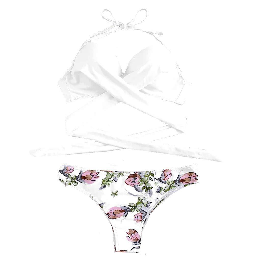 letter54 Bikinioberteil Damen Bustier Neckholder High Waist Bikini Strand Mode Monokini Rückenfrei 2019 Mode Sexy Frauen Bikini Gepolsterte Badebekleidung Mit V-Ausschnitt Solide Bathing Beachwear Set