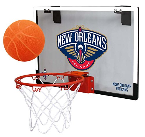 fan products of NBA New Orleans Hornets Game On Indoor Basketball Hoop & Ball Set, Large, Blue