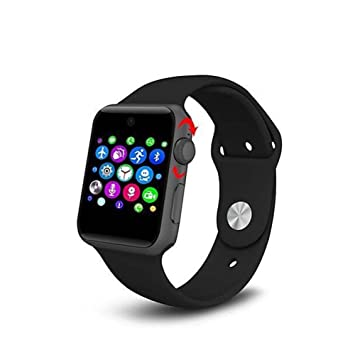 Lemfo LF07 Bluetooth Smart Watch 2.5D ARC HD Screen Support SIM Card Wearable Devices SmartWatch for iOS Android, Black
