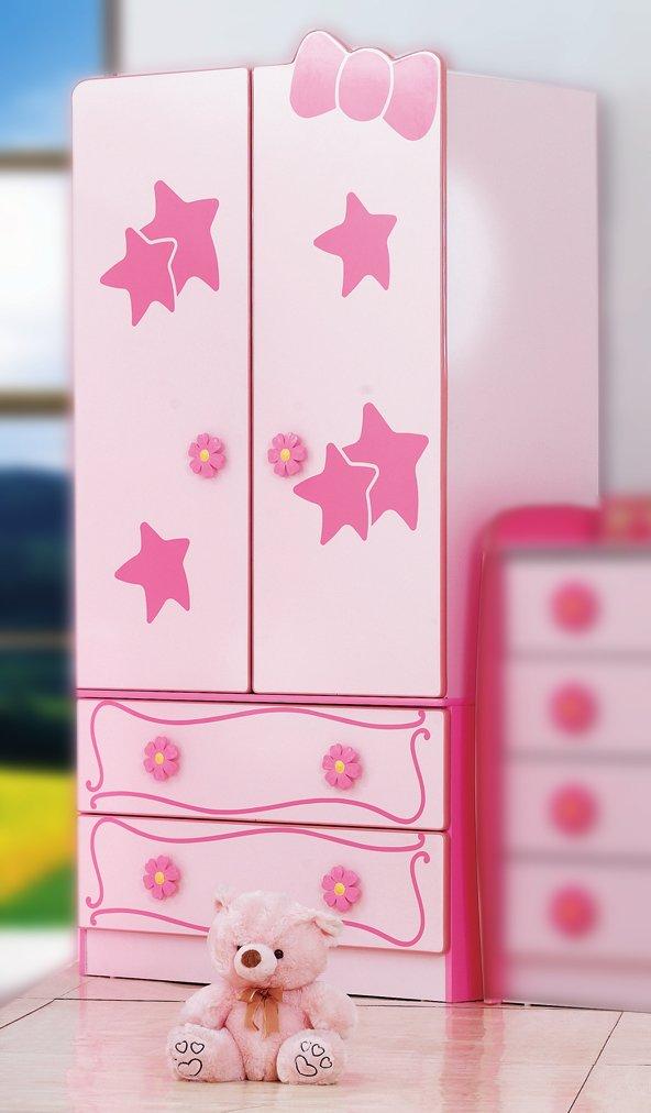 Rosa Pink Mädchen Kleiderschrank / Prinzessin Schrank: Amazon.de ...