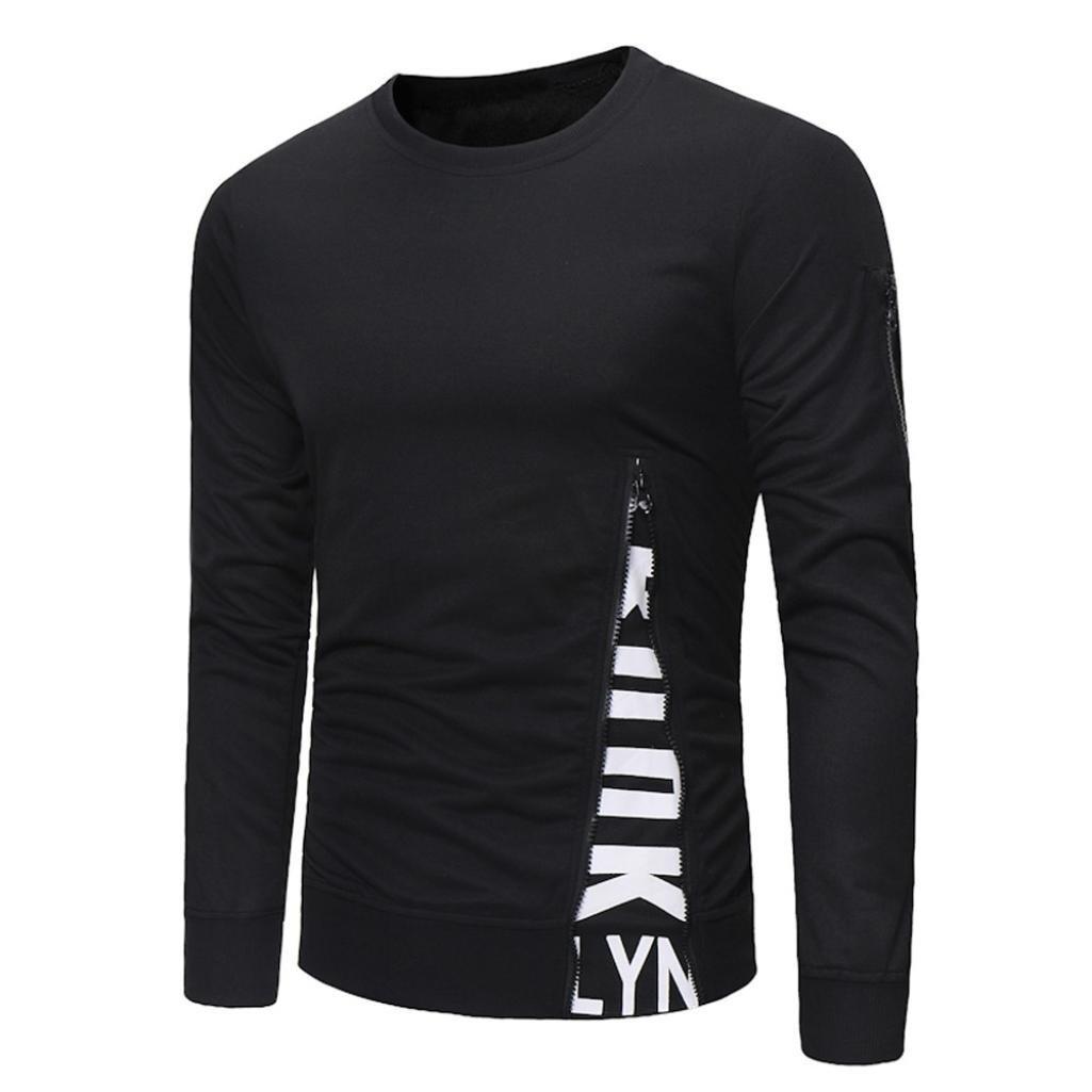 ♚Btruely Herren Moda Camisetade Blusa Hombres Casual Ropa Hombres De Manga Larga Blusa con Cremallera de los Hombres Tops: Amazon.es: Ropa y accesorios