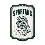 NCAA Michigan State University 40009011 Wood Sign, 11'' x 17'', Black