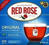 Red Rose Original Full Flavored Black Tea 8oz Box of 100 Tea Bags