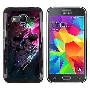 // PHONE CASE GIFT // Duro Estuche protector PC Cáscara Plástico Carcasa Funda Hard Protective Case for Samsung Galaxy Core Prime / Melting cráneo Colores /