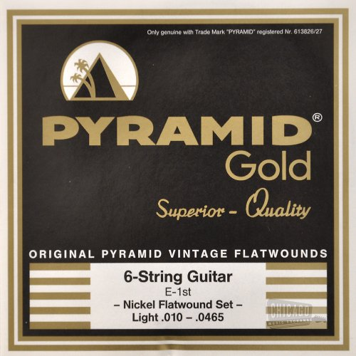 Pyramid Gold Flatwound Light Electric Guitar Strings 10-465 by Pyramid