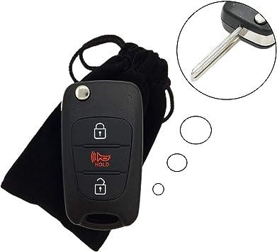 MagiDeal Remote Keyless Entry Key Case Fob Cover for Honda Accord Civic HR-V Dark Blue