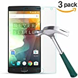 OnePlus 2 Screen Protector, TANTEK [Bubble-Free][HD-Clear][Anti-Scratch][Anti-Glare][Anti-Fingerprint] Tempered Glass Screen Protector for OnePlus 2 [2015 Model],[Lifetime Warranty]-[3Pack]